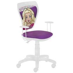 Obrotowe krzesło dziecięce ministyle white - barbie 3 marki Nowy styl