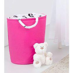 Mamo-tato dwustronny kosz na zabawki ciemny róż / wróżki czarne