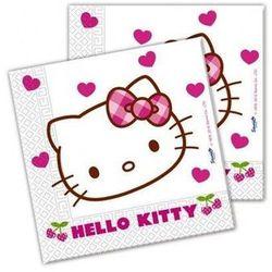Serwetki urodzinowe Hello Kitty Serca - 33 cm - 20 szt.