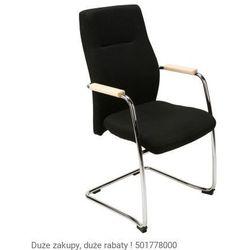 Krzesło konferencyjne orlando wood steel cfp chrome marki Nowy styl
