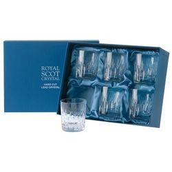 Royal scot crystal szklanki sapphire do whisky 330ml 6szt.