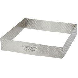 Rant piekarniczo-cukierniczy kwadratowy perforowany - 17.5x17.5 cm marki De buyer