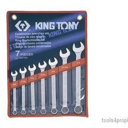 Zestaw kluczy płasko-oczkowych 7cz. calowe 3/8 - 3/4'' 1207sr marki King tony