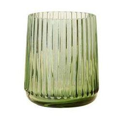 Hk living  wazon szklany zielony, rozmiar s agl4411