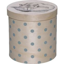 Bloomingville Pudełko z liskiem w niebieskie kropki - (5711173154890)