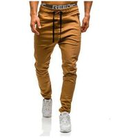 Spodnie joggery męskie camelowe Denley 0803