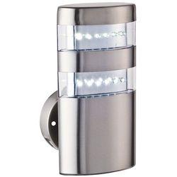 Zewnętrzna LAMPA ścienna MONTANA 8302 Rabalux IP44 kinkiet OPRAWA elewacyjna nowoczesna outdoor stal nierdzewna biała