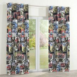 zasłona na kółkach 1 szt., auta retro, 1szt 130x260 cm, freestyle marki Dekoria