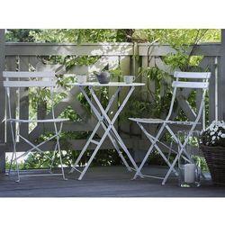 Beliani Meble ogrodowe białe - balkonowe - stół z 2 krzesłami - fiori