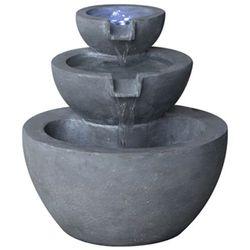 Velda kamienna fontanna ogrodowa, 3-stopnie, ze światłem led, 850908 (8711921250888)