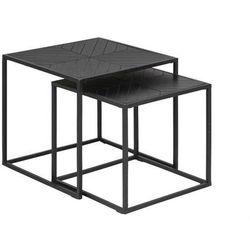 zestaw stolików ortiz czarne - drewno pawilonia, metal marki Actona