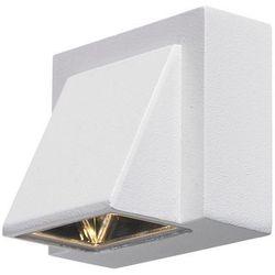 Markslojd Zewnętrzna lampa ścienna carina 104733 metalowa oprawa kinkiet led 1w ogrodowy outdoor ip44 biały