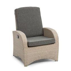 comfort siesta fotel ogrodowy regulowane oparcie jasnoszary marki Blumfeldt