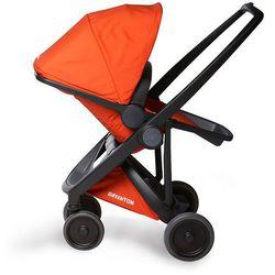 Greentom, Upp Reversible, wózek spacerowy, czarny-pomarańczowy - produkt z kategorii- Wózki spacerowe