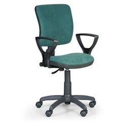Krzesło biurowe MILANO II z podłokietnikami - zielone