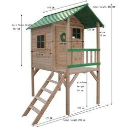 Drewniany domek ogrodowy dla dzieci BINKA
