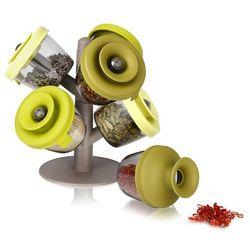 Zestaw 6 pojemników do przypraw (zielonych) popsome  marki Tomorrow's kitchen