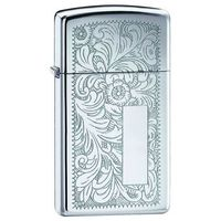 Zapalniczka ZIPPO Slim Venetian, High Polish Chrome (Z1652)