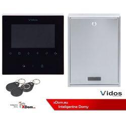 Zestaw Cyfrowy Vidos S1201-SKP Skrzynka na listy z wideodomofonem i czytnikiem kart, M1022B Monitor 4.3'' wideodomofonu