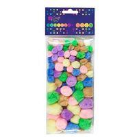 Dalprint Pompony akrylowe  kspo-002/78szt. - mix pastelowe