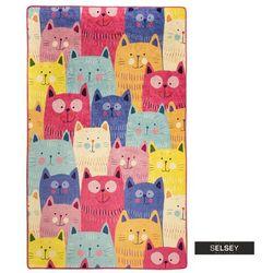 Selsey dywan do pokoju dziecięcego dinkley koty kolorowy 140x190 cm (5903025555218)
