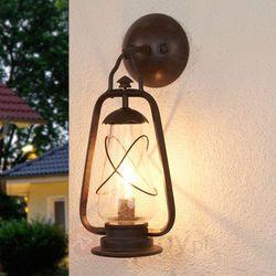 Zewnętrzna LAMPA ścienna MINERS WALL Elstead rustykalna OPRAWA metalowa KINKIET ogrodowy IP43 outdoor ciemny brąz (5024005223801)