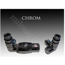 Zestaw zaworów grzejnikowych termostatycznych VISION lewy CHROM z kategorii Zawory i głowice