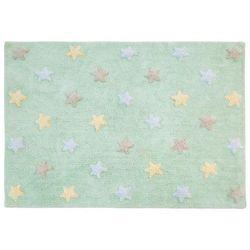 Dywan do prania w pralce: Tricolor Star - Soft/Mint (120x160 cm) z kategorii Dywany dla dzieci