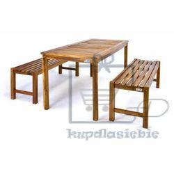 Stół piknikowy z ławkami Garth z drewna akacjowego (4025327056406)