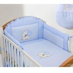 MAMO-TATO pościel 3-el Miś z serduszkiem w błękicie do łóżeczka 60x120cm