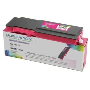 Toner cw-d2660mn magenta do drukarek dell (zamiennik dell 593-bbbs) [4k] marki Cartridge web