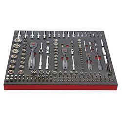 Zestaw narzędzi COMFORT,klucz nasadowy i wyposażenie dodatkowe, 171-częściowy, we wkładce z twardej piank