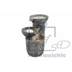 Garthen Fontanna ogrodowa kaskadowa podświetlana trzy miski
