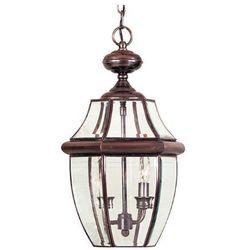 Zewnętrzna LAMPA ścienna NEWBURY QZ/NEWBURY2/L AC Elstead QUOIZEL ogrodowa OPRAWA tarasowy kinkiet IP44 miedź przezroczysty