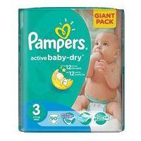 Pieluszki  active baby-dry rozmiar 3 midi, 90 szt. marki Pampers