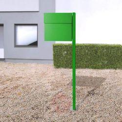 Stojąca skrzynka na listy LETTERMAN IV, zielona (4250208615070)