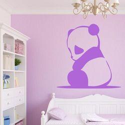 Wally - piękno dekoracji Naklejka welurowa dla dzieci niedźwiadek panda 2398