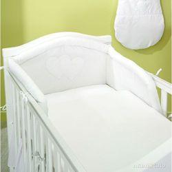 MAMO-TATO pościel 2-el Serduszka w Bieli do łóżeczka 60x120cm z kategorii komplety pościeli dla dzieci