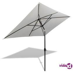 vidaXL Prostokątny parasol ogrodowy, biały, 200x300 cm (8718475849674)