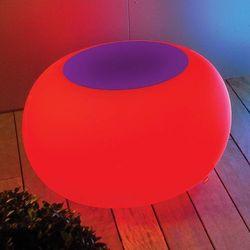 Moree Stół bubble, światło led rgb i fioletowy filc