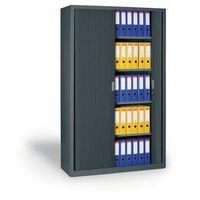 Szafa metalowa z żaluzjowymi drzwiami, 1990x1000x450 mm, ciemnoszary