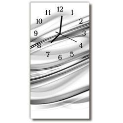 Zegar szklany pionowy abstrakcja grafika linie biały marki Tulup.pl