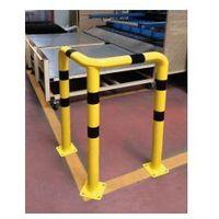 Barierka do ochrony narożników kątowa 3-nożna - żółto-czarna, 213010