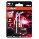Osram h11 12v 55w pgj19-2 night breaker® unlimited (do +110% więcej światła, do 35m-40m dłuższy zasięg,do +20% bielsze światło)