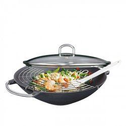 wok żeliwny z rusztem, śred. 36,5 cm