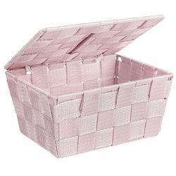 Wenko Organizer z pokrywką adria pink, pojemnik łazienkowy, (4008838217511)