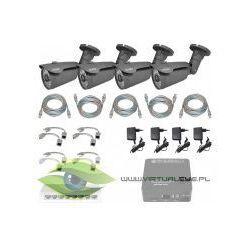 ZESTAW DO MONITORINGU IP ''EURA PRO'' MSP-11C5 (1,3 Mpx) 4 x kamera CBA-22C5,rejestrator mini 4 kanałowy, switch, 4 x zasilacz, 4 x adapter PoE, skrętka