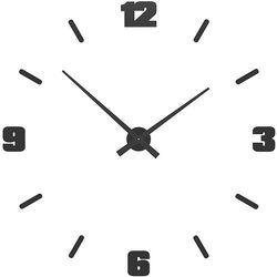 Zegar ścienny Michelangelo duży CalleaDesign czarny, kolor czarny