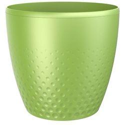 Osłonka plastikowa na doniczkę perła 25 cm zielony marki Plastia