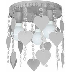 Plafon lampa oprawa sufitowa Milagro Corazon 3x60W E27 szary 1151, 1151